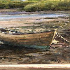 """Frank Corso Oil on Board """"Low Tide"""""""