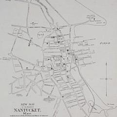 Original Historical Map of Nantucket By E.K. Godfrey, 1882
