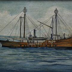 Mellie Cooper Acrylic Portrait of the Boston No. 54 Lightship