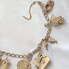 14k Yellow Gold Charm Bracelet