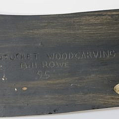 Bill Rowe Hand Carved Wood Sperm Whale Plaque, circa 1995