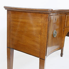 English Mahogany Serpentine Sideboard, early 19th Century