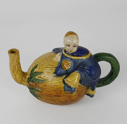 116-4621 Chinese Gourd Form Teapot A_MG_4616