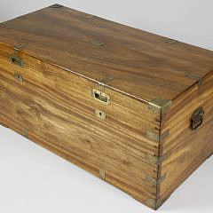 Chinese Export Brass Bound Camphorwood Trunk, 19th c.