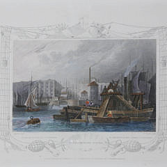 Set of 3 English Hand-Colored Nautical Engravings, 19th c.