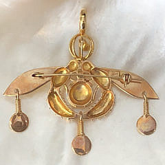 14k Yellow Gold Beetle Brooch-Pendant Attrib. to Ilias Lalaounis