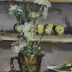"Andrew Shunney Oil on Canvas ""Kitchen Study"""