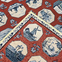 "Diamond & Baratta for Stark Carpet ""Delft China"" Needlepoint Carpet"