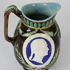 130-4621 19th C. Pitcher with Washington and Lincoln A_MG_4601