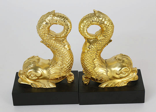 132-4621 Pair of Sea Serpent Bookends A_MG_6148