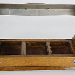Oak and Crystal Tantalus Set, 19th Century