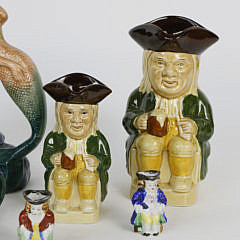 Collection of 10 Vintage Staffordshire Toby Jugs