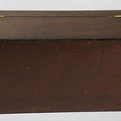 Antique Mahogany Jewelry Box with Line Inlay