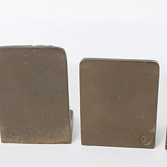 Two Pairs of Vintage Bronze Bradley and Hubbard Bookends