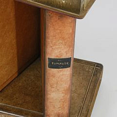Faux Leather-Bound Book Stack Table