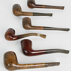 Collection of 12 Vintage Wooden Pipes