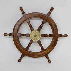 1551-54 Contemporary Mahogany Ship's Wheel A_MG_5283