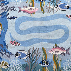 "Claire Murray Hooked Rug ""Tropical Sea Life"""