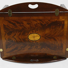 Inlaid Mahogany Butler's Tray Top Table, Contemporary