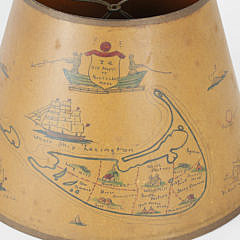 Vintage Hand Painted Nantucket Lamp Shade