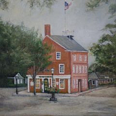 """Yasemin Tomakan Oil on Canvas """"Old Customs House"""""""
