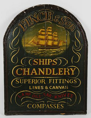 187-4621 Finch & Sons Ship Chandlery Trade Sign A_MG_5967