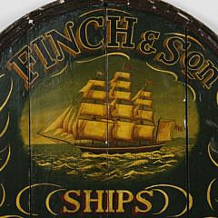 Finch & Son Ships Chandlery Trade Sign
