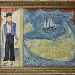 """193-4621 Kolene Spicher """"The Sailor from Sconset"""" watercolor A_MG_5583"""