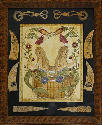 "195-4621 Judith Brinck watercolor ""Mermaid's Paradise"" A_MG_5607"