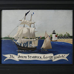 """196-4621 """"The Joseph Starbuck Leaving Nantucket"""" oil on canvas A_MG_5587"""