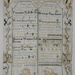 1776 English Needlework Sampler