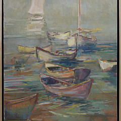 "2-4914 David Lazarus oil painting ""Dories"" A_MG_5390"