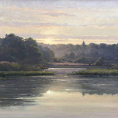 "Frank Corso Oil on Board ""Misty Morning"""