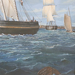 Boston Outer Harbor Oil on Canvas by Jane Robson and John Hutchinson