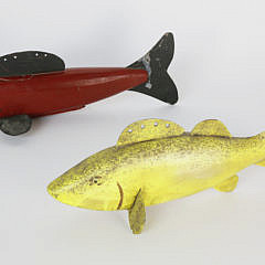 20-13 Two Large Painted Fish Decoys A_MG_6163