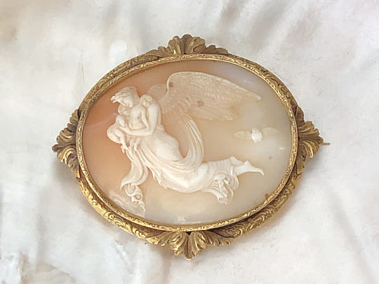 20-4847 Antique Cameo Brooch with Angel A IMG_4983