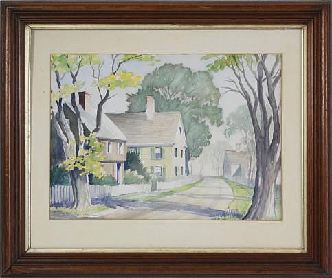 "2027-955 R. Richards watercolor ""Milk Street"" A_MG_5996"