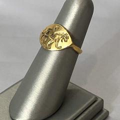 Ancient Greek Gold Lion Ring