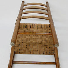 Tiger Maple Shaker Style Ladderback Armchair