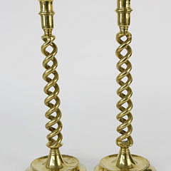 2286-955 Pair of Brass Barley Twist Candlesticks A_MG_5715
