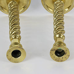 Pair of Vintage Brass Barley Twist Candlesticks