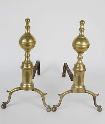 23-4905 Brass Andirons A_MG_5867