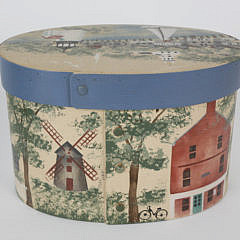 Vintage Betty MacLaren Nantucket Painted Ditty Box