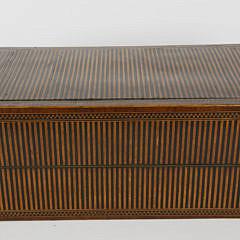 Fine Multi-wood Inlaid Lap Desk, 19th Century