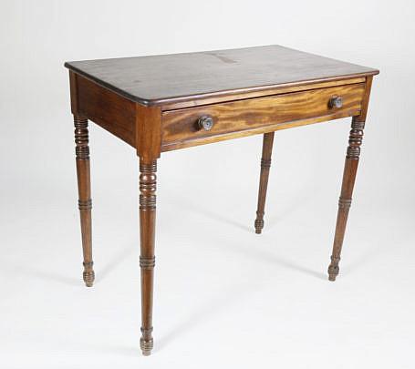2377-955 Sheraton Mahogany 1 Drawer Side Table A_MG_6033