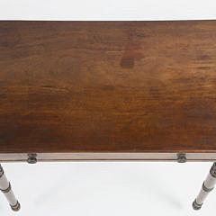 Sheraton Mahogany One Drawer Side Table, 19th c.