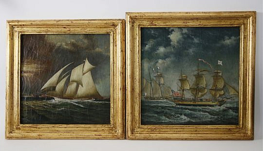243-4621 Pair of Trevor James Maritime Paintings A _MG_5576