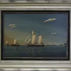 """25-3318 """"Sloop Leaving Harbor"""" A_MG_5629"""