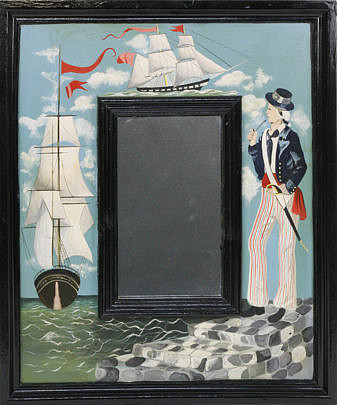 27-4892 Painted Nautical Decorated Mirror A_MG_5515
