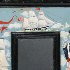 Vintage Hand Painted Nautical Decorated Mirror